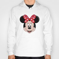 minnie Hoodies featuring Minnie Mouse by Yuliya L