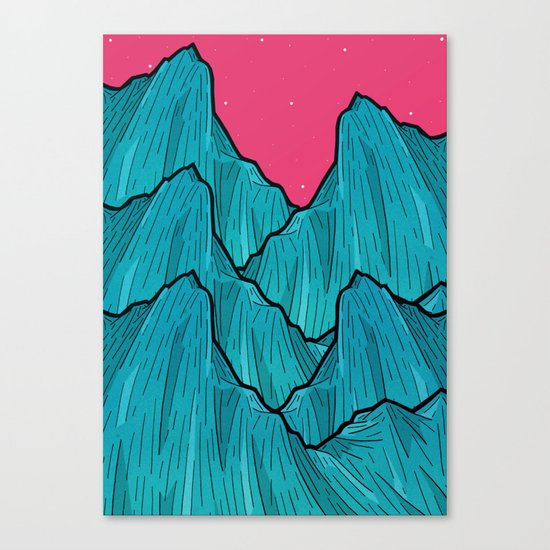 Mountains of Waves Canvas Print