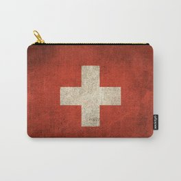Old and Worn Distressed Vintage Flag of Switzerland Carry-All Pouch