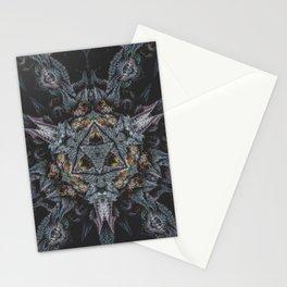 Purple Black Lime Stationery Cards