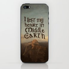 I Left My Heart in Middle Earth iPhone & iPod Skin