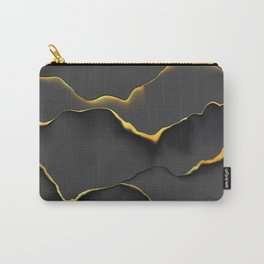 black gold scratch Carry-All Pouch