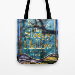 Sleepy Hollow Village Sign Tote Bag