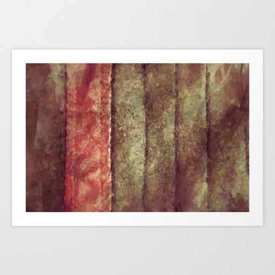 Bookmark Leather Art Print