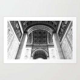 Under the Arc: B&W Paris Collection #3 Art Print