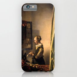 """Johannes Vermeer """"Girl Reading a Letter at an Open Window"""" iPhone Case"""