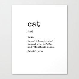 Cat Definition Canvas Print