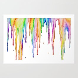 Colorful Icicles Art Print