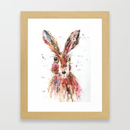 Fluffy Hare Framed Art Print
