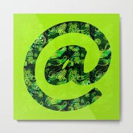 @ symbol - Lime Metal Print