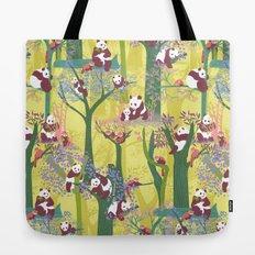 Both Species of Panda - Yellow Tote Bag