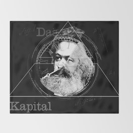 The Time of Marx Dark Throw Blanket