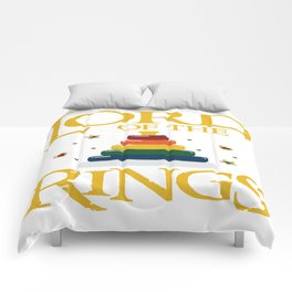 Baby Lord Rings Mum Dad Kids Fantasy Parents Gift Comforters