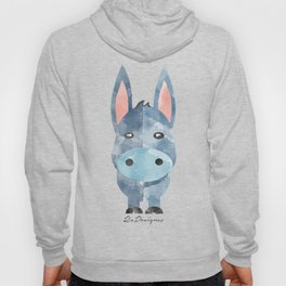 Water Colour Baby Donkey Hoody