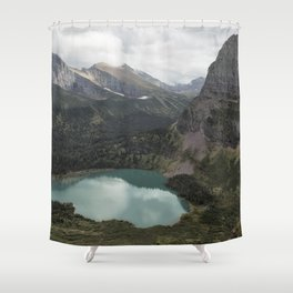 Grinnell Lake from the Trail No. 2 - Glacier NP Shower Curtain