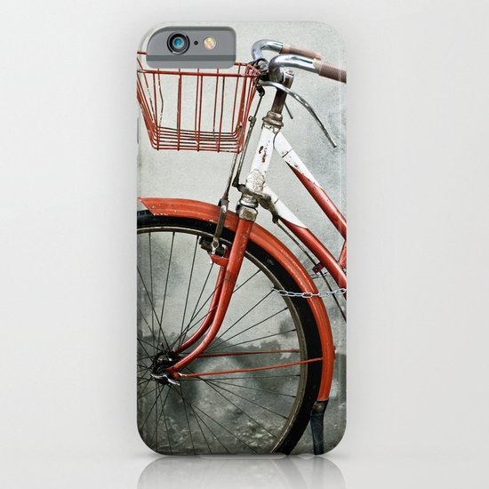 Red bicycle iPhone & iPod Case