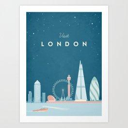 Vintage London Travel Poster Art Print