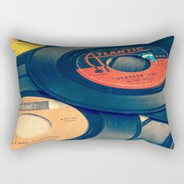 Take those old records off the shelf Rectangular Pillow