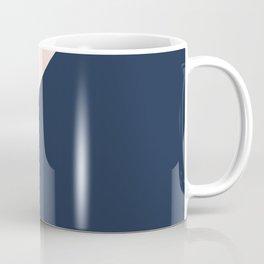 Blush meets Navy Blue & White Geometric #1 #minimal #decor #art #society6 Coffee Mug