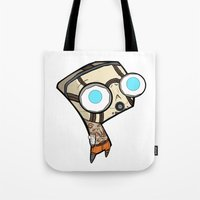 borderlands Tote Bags featuring Borderlands Bandit GIR by Diffro