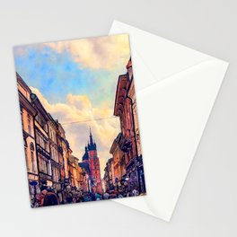 Cracow Florianska street Stationery Cards