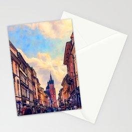 Cracow Florianska street Stationery Cards