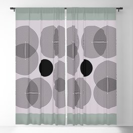 Abstract Floral Pastel - Mid Century Modern Geometric Minimalist Blackout Curtain