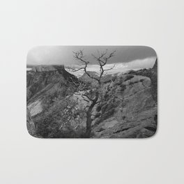 Withered Tree on top of Mountain Range, Big Bend - Landscape Photography Bath Mat