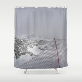 Snow is whiter on the other side Shower Curtain
