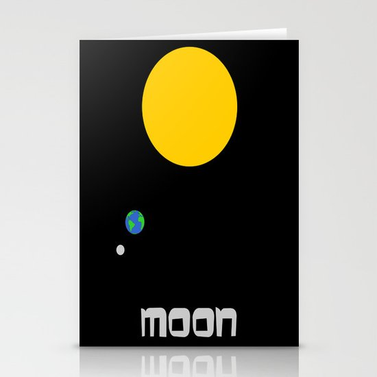 The Moon in Minimal Stationery Cards
