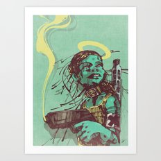 Guard II. Art Print