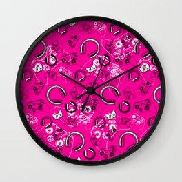 Gamers-Pink Wall Clock