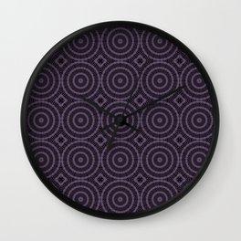 Lilac And Purple Circles Double Helix Mandala Pattern Wall Clock