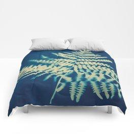 Fern solar print Comforters