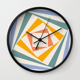Spinning Squares Palette III Wall Clock