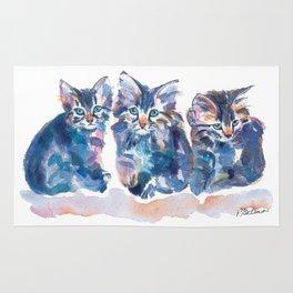 Crazy Quilt Kittens Rug
