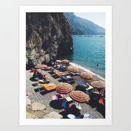 Positano beach  Art Print