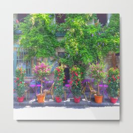 Colourful French Store Metal Print