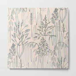 meadow feathers buff Metal Print