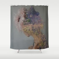 the mountains are calling Shower Curtains featuring The mountains are calling. by DanielleYagodich