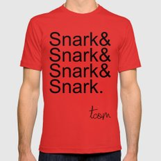 #Snark Mens Fitted Tee MEDIUM Red