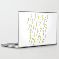 lightning Laptop & iPad Skins featuring Lightning by Jess Driscoll