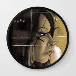 Amber Light Wall Clock