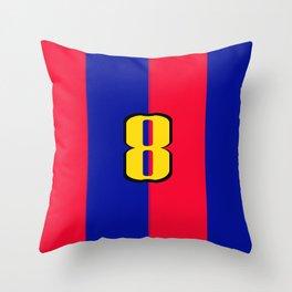 soccer team jersey number eight Throw Pillow