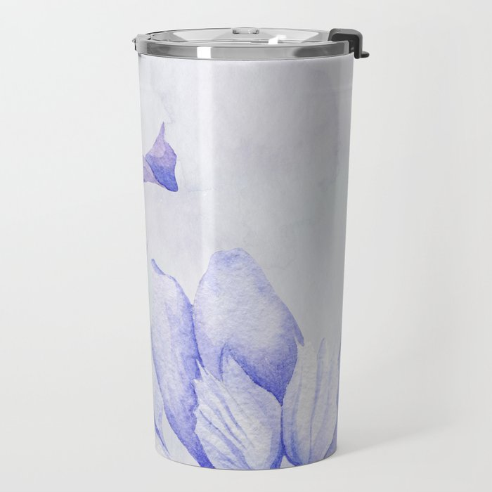 Watercolor Iris Travel Mug