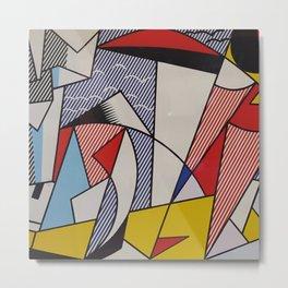 A vectorised Lichtenstein Metal Print