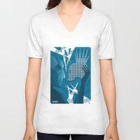 hamlet V-neck T-shirts featuring Hamlet and Yorick by SHOTS