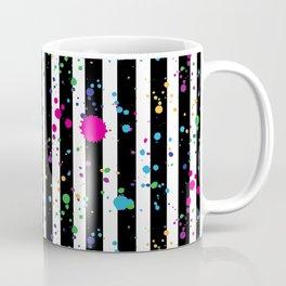 Stripes & Rainbow Splatter Coffee Mug