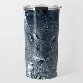 Metallic shine on a yin yang type fractal form Travel Mug