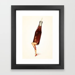 Soda Girl Framed Art Print
